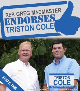Triston Cole endorsed by Greg MacMaster
