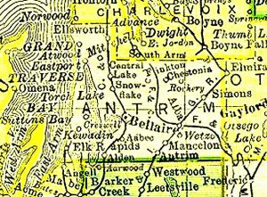 Antrim County - Old Map